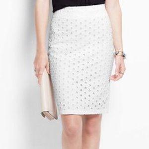 NWT-eyelet pencil skirt